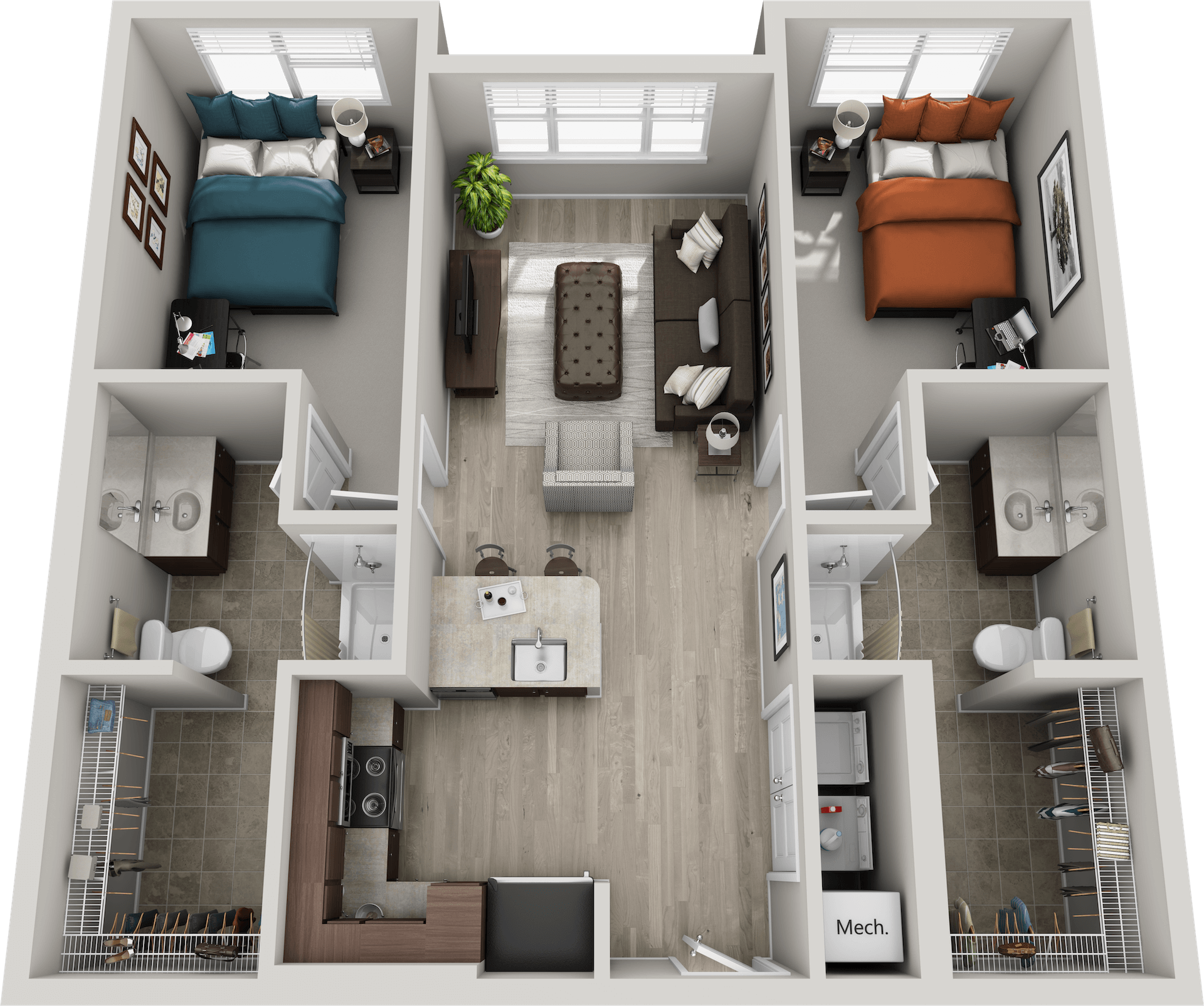 The Shelby - 2 Bed/ 2 Bath